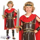 Boys Childs Roman Warrior Soldier Greek Gladiator Fancy Dress Costume Outfit