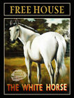 THE WHITE HORSE ORIGINAL VINTAGE PUB PAINTING: METAL SIGN CHOOSE YOUR OWN SIZE