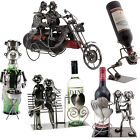METAL WINE BOTTLE HOLDER ORNAMENT DECOR KITCHEN GIFT NOVELTY RACK STAND FUN