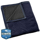 """Moving Blanket Furniture Pad - Pro Economy - 80"""" x 72"""" Navy Blue and Black"""