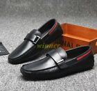 Fashion Mens 100% Leather Korean Style Slip On Driving Shoes Mocassins Oxfords