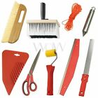 WALLPAPER TOOLS MAKO - PASTING BRUSH SMOOTHER SEAM ROLLER CUTTING KNIFE & MORE