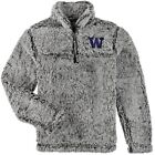 Washington Huskies Girls Youth Sherpa Super-Soft Quarter-Zip