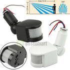 180° 12M Outdoor Security PIR Infrared Motion Sensor Detector Switch Wall Light