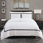 Chic Home Krystel Hotel Collection Black and White Banded Pr