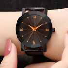 Women Luxury Quartz Sport Military Stainless Steel Dial Leather Band Wrist Watch image