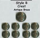 1 Set of Designer Mens Blazer Metal Buttons - Gold - Antique Brass  - Silver