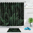 Rainforest Tree Palm Teal Green Shower Curtain Bathroom Fabric &12 Hooks 72*72in