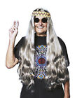 Long Mens Adult 70S Hippie Indian Costume Wig With Headband
