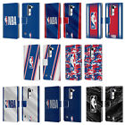 OFFICIAL NBA LOGOMAN LEATHER BOOK WALLET CASE COVER FOR LG PHONES 2