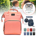 Mummy Bag USB Charging Backpack Large Baby Diaper Nappy Bag Outdoor Waterproof