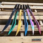 "27"" Ninja Sword Combat Machete Full Tang SURVIVAL TACTICAL Technicolor w/Sheath"