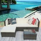 iKayaa 5x Outdoor Patio Furniture Sectional Rattan Wicker Sofa Chair Couch Set