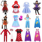 Halloween Costume Cartoon Cosplay Party Pirate Bat Fancy Dress Set for Girl Kid image