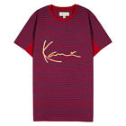 KARL KANI TRAP RUGBY T-SHIRT RED STRIPE EMBROIDERED TEE MENS 90s FASHION image