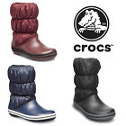 Crocs Winter Puff Warm Lined Winter Snow Soft Fashion Womens Boots Size 4-9
