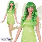 Adults Ladies Neverland Green Fairy Pixie Tinkerbell Fancy Dress Costume & Wings