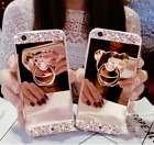 For iPhone X Max 7 8 Plus Case Bling Cute Glitter Holder Ring Mirror Back Covers