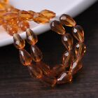 30pcs 12X8mm Teardrop Faceted Loose Spacer Glass Beads Jewelry Making DIY