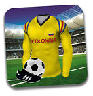 World Cup 2018 Football Shirt & Flag Themed Drink Beer Coasters - Team Colombia