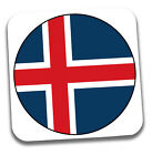 World Cup 2018 Football Shirt & Flag Themed Drink Beer Coasters - Team Iceland