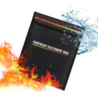 Fireproof Safe Bag Fire Water Resistant Pouch Cash Money Documents File Storage