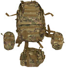 SAS Tactical Outdoor Backpack Daypack Rucksack + 3 Detachable Pouches