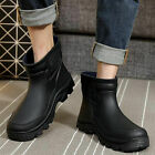 Hot Mens Waterproof Rubber Ankle Rain Boots fishing outdoor Wellies shoes new