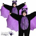 CHILDRENS UNISEX BOYS SCARY HALLOWEEN BAT WITH WINGS FANCY DRESS COSTUME OUTFIT
