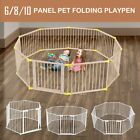 6/10 Panel 3in1 Metal Kids Safety Gate Pet  Playpen Divider Double Locking