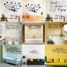 Soak Relax Enjoy Quote Wall Stickers Art Bathroom Removable Decals Decor Diy
