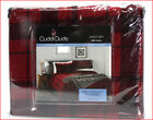 Cuddl Duds Heavy Weight 100% Cotton FLANNEL Sheet Set - Red  Black Plaid 🌟NEW🌟 image