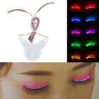 LED Eyelashes False Eyelids Eye Lashes Pub Club Bar Masquerade Halloween Party