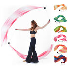 206 x 70cm Scarf Belly Dance Silk Veil Poi Balls Yoga Dancing Costume Stage Prop
