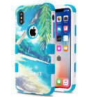 For iPhone XS IMPACT TUFF HYBRID Protector Case Skin Phone Cover +Screen Guard