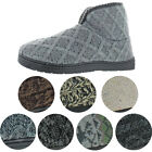 Mukluks Men&#039;s Mark Sweater Knit Furpa Ankle Bootie House Slippers <br/> WARM FAUX FUR LINED SMALL = 8-9 MED 10-11 LARGE 12-13