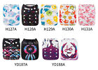 ALVA Baby Cloth Diapers One Size Reusable Pocket Nappies 1 Microfiber Insert