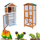 """64""""65"""" Bird Cage Wooden  Parakeet Canary Finch Conure Aviary with Play House"""