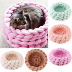 30cm DIY Knitting Pet Nest Thick Yarn Cat Dog Hand Knitted Washable House Gift S