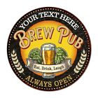 Your Name Beer Pub Man Cave Metal Sign Home Decor Round 100140025001
