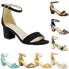 Внешний вид - New Women Ankle Strap Chunky Block Mid Heel Dress Open Toe Sandal