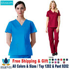 Maevn Scrubs Set BLOSSOM Women's 3 Pockets V-Neck Top  Cargo Pant 1202/9202