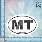 Montana MT State Oval Euro Bumper Sticker Decal - Car Truck Auto Euro Oval