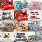 Luxury Printed Bedding Duvet Quilt Set Pillow Cover Floral Animal 3D Double King