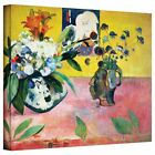 Art Wall Paul Gauguin 'Flowers and a Japanese Print' Gallery-wrapped Canvas