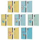 OFFICIAL MUY POP SUNNY SIDE UP SUMMER LEATHER BOOK CASE FOR APPLE iPHONE PHONES