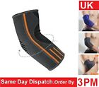 2X Elbow Support Sleeve for Arm Pain Injury Work Gym Sport Grey/Orange