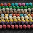 Kyпить 8MM Natural Stone Beads Lava Rock Round Jewelry Making Gemstone U Pick Colour  на еВаy.соm