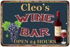 Cleo's Green Wine Bar Wall Décor Kitchen Gift Sign Metal 112180043117