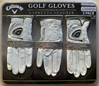3 Pack Callaway Men's Premium Cabretta Leather Golf Golfer Glove Right Handed